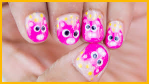 cute baby pig nail design for short nails chippernails youtube