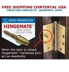 Ipd Door Locks by Hingemate Door Security Pins 3 Pack Kit Ebay