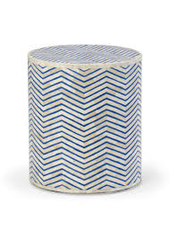 navy blue accent table herringbone striped side table from belleandjune com side accent
