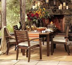 retro christmas dining table decoration ideas pottery barn dining