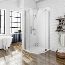mode 8mm rh frameless hinged quadrant shower enclosure
