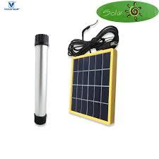 solar powered tube lights victorstar solar 4 in 1 led rechargeable cing light solar