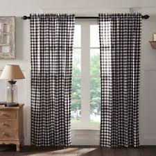 Rustic Curtains And Drapes Black Curtains Drapes And Valances Ebay