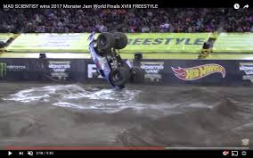 video monster truck accident a front flipping monster truck explained by physics inverse