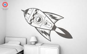 rocket xxl wall decal nursery kids rooms wall decals boy room rocket kids wall decals xxl