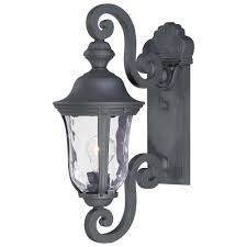 Home Depot Light Fixtures Outdoor by The Great Outdoors By Minka Lavery Ardmore 1 Light Black Outdoor