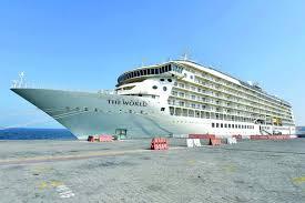 largest cruise ship in the world world u0027s largest cruise ship docks in doha the peninsula qatar