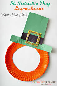 St Patrick S Day Home Decorations St Patrick U0027s Day Leprechaun Paper Plate Mask Paper Plate Masks