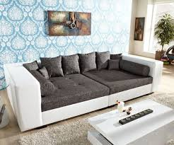 sofa grau weiãÿ sofa design stella weiss big sofa grau struktur kissen brown