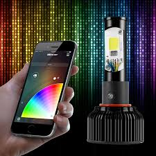 40 hz strobe light app ios android smartphone app bluetooth xkchrome 2 in 1 led headlight