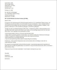 examples of cover letters for medical assistant cover letter for