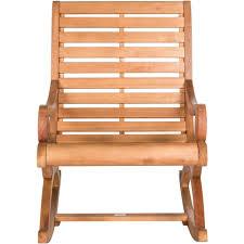 Outdoor Wood Rocking Chair Safavieh Sonora Rocking Chair Teak Brown Walmart Com