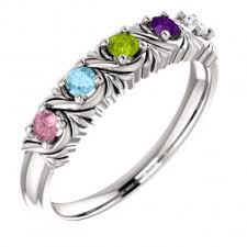 make mothers rings images 6 stone mothers rings in gold platinum jpeg