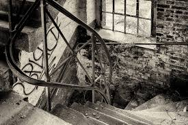 free picture old rust fence monochrome wall concrete stairs