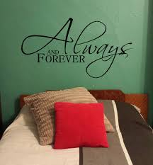 bedroom love wall decals quotes always and forever master bedroom love wall decal stickers vinyl wall letters
