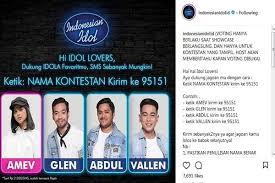 Vote Idol Idol 2017 Voting Sms Akan Tentukan Nasib 20 Kontestan
