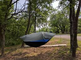 my first test of the clark mark2 hammock tent hybrid at eisenhower