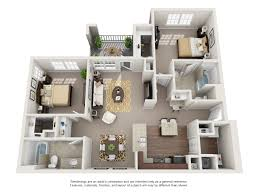 2 Floor Bed 1 2 And 3 Bedroom Floor Plans The Shores Apartments