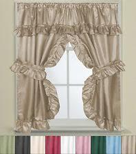 How To Make A Ruffled Valance Bathroom Window Curtains Ebay