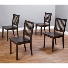 Shaker Dining Chair Shaker Dining Chairs Set Of 4 Espresso Walmart