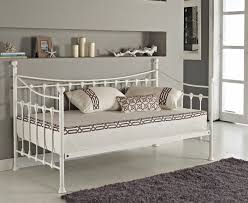 Daybed With Trundle And Mattress Day Bed And With Trundle Mattress Option Black White Metal Frame