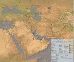 mid east map map and gas fields and gas pipelines refineries