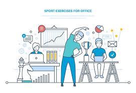 exercice au bureau exercices de sport pour le bureau faire des sports formation