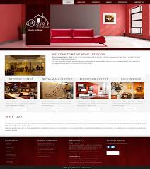 home interior website royal home interior website design by simshine technologies
