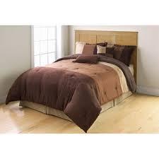 Mainstays Bedding Sets Mainstays Comforter Set Collection Microsuede Pieced Walmart Com