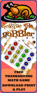 thanksgiving math gobble the gobbler logicroots