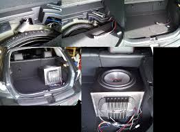 wire an aftermarket subwoofer to bose or stock ms3 stereo