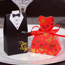 and groom favor boxes cheap price and groom wedding candy boxes black white