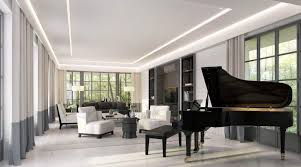 piano in living room modern living room with led lighting and a grand piano arrange a