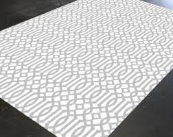 Black And White Modern Rugs Geometric Rug Etsy