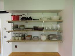 Kitchen Shelves Decorating Ideas by Kitchen Shelves Instead Of Cabinets