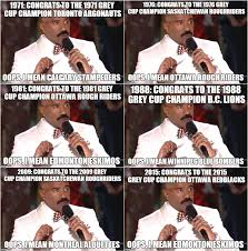 Steve Harvey Memes - steve harvey miscalls the grey cup chions by