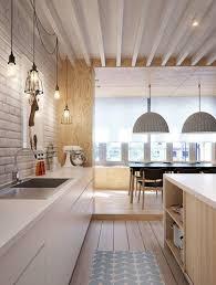 cuisine scandinave design cuisine en bois design cuisine bois plan de travail blanc