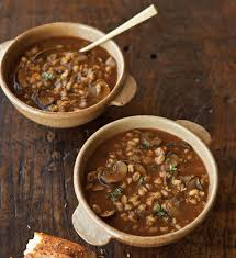 wild mushroom gravy recipe dishmaps savory barley soup with wild mushrooms and thyme williams sonoma