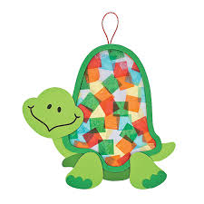 colorful turtle tissue paper craft kit we did this at our summer