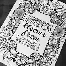 digital coloring page happiness blooms from quotes from the