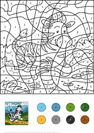 zebra color number free printable coloring pages