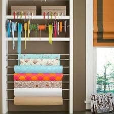 wrapping paper station design ideas