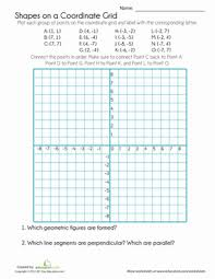 coordinate grid shapes worksheet education com