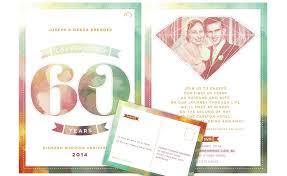 60th wedding anniversary invitations creative clarity by liana spiro freelance web designer sydney