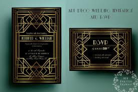 printable art deco wedding invitation template gatsby rsvp