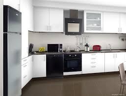 cuisine alu et bois cuisine blanche avec plan de travail noir 73 id es relooking moderne