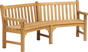 Curved Patio Sofa by Oxford Garden Essex Curved Shorea Outdoor Teak Bench
