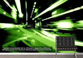 At The Speed Of Light At The Speed Of Light Modern Green Wallpaper Printed Wall Paper