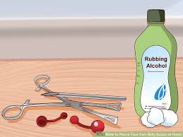 how to your own belly button at home with pictures