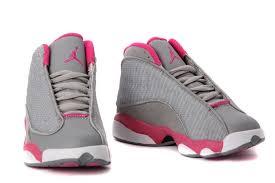 kid jordans nike air jordans kids 13 cool grey fusion pink white 2013